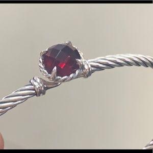 David Yurman 3mm Chatelaine Bracelet Garnet